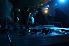 Miscelatore del DJ Fotografia Stock Libera da Diritti