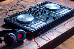 Miscelatore del DJ Fotografia Stock