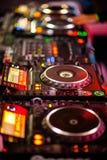 Miscelatore del DJ Immagine Stock