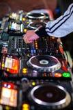 Miscelatore del DJ Immagini Stock