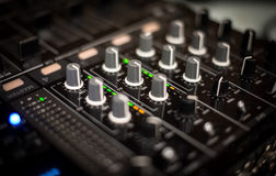 Miscelatore del DJ Immagini Stock Libere da Diritti