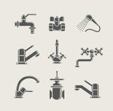 Miscelatore del rubinetto di approvvigionamento idrico, colpetto, valvola per acqua Immagini Stock