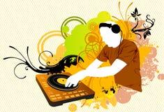 Miscelazione del DJ a colori Fotografia Stock