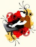 Miscelazione del DJ a colori Fotografie Stock Libere da Diritti