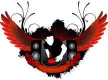 Miscelazione del DJ con le ali Fotografie Stock