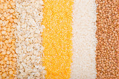 Miscellaneous cereals Royalty Free Stock Photos