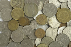 Miscellaneous Coins Royalty Free Stock Photos
