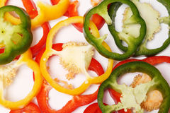 Miscellaneous colored peppers Stock Photography