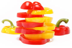 Miscellaneous colored peppers Stock Image