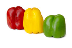 Miscellaneous colored peppers Stock Photos