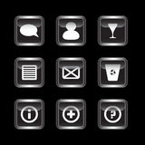 Miscellaneous dark icons set Stock Photos
