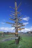 Miscellaneous distance signs Stock Photos