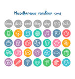 Miscellaneous doodle icons Stock Photos