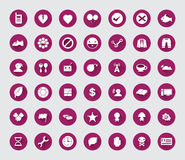 Miscellaneous flat  icon set with long shadow for web and mobile Royalty Free Stock Images