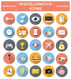 Miscellaneous flat icon set. Vector EPS10 Illustration Royalty Free Stock Photography