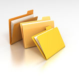 Miscellaneous Folders. 3D rendered desktop icon of a set of data file folders vector illustration