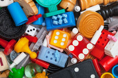 Miscellaneous game pieces Stock Photography