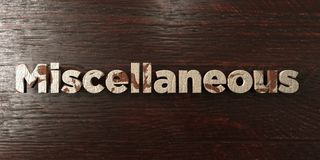 Miscellaneous - grungy wooden headline on Maple - 3D rendered royalty free stock image. This image can be used for an online website banner ad or a print stock illustration