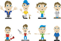 Miscellaneous Guys. Illustrations of different guys doing a variety of things Royalty Free Stock Photography