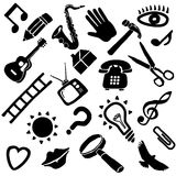 Miscellaneous icon set Royalty Free Stock Images