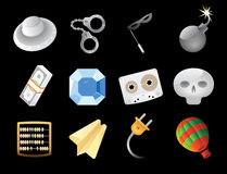 Miscellaneous icons. Miscellaneous high detailed icons. Vector illustration Stock Image