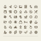 Miscellaneous icons (collection) Stock Photography
