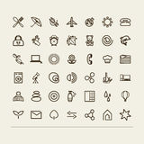 Miscellaneous icons (collection) Stock Photos