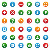 Miscellaneous icons set Royalty Free Stock Photo