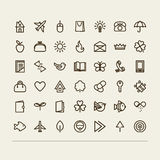 Miscellaneous icons Royalty Free Stock Photo