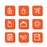 Miscellaneous icons Royalty Free Stock Photography