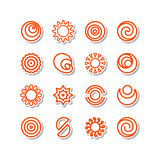 Miscellaneous icons Stock Image