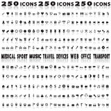 Miscellaneous icons Stock Images
