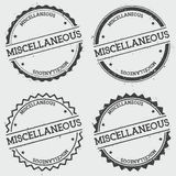 Miscellaneous insignia stamp  on white. Royalty Free Stock Photography