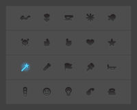Miscellaneous interface icons. Vector illustration Royalty Free Stock Photography