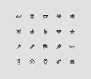 Miscellaneous interface icons. Vector illustration Stock Photography