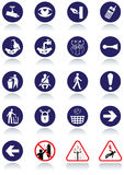 Miscellaneous international communication signs. Royalty Free Stock Photo