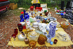 Miscellaneous items at flea markets Stock Images