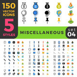 Miscellaneous 150 line flat isometric mobile web s Stock Photography