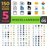 Miscellaneous 150 line flat isometric mobile web s Stock Images