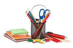 Miscellaneous office supplies. Royalty Free Stock Image