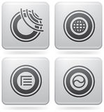 Miscellaneous Platinum Icons Royalty Free Stock Photos