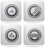 Miscellaneous Platinum Icons royalty free illustration