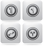 Miscellaneous Platinum Icons Stock Image