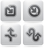 Miscellaneous Platinum Icons Stock Photos