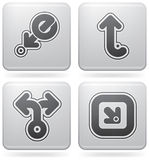 Miscellaneous Platinum Icons Royalty Free Stock Photography