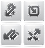 Miscellaneous Platinum Icons Royalty Free Stock Images