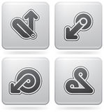 Miscellaneous Platinum Icons Stock Photography