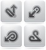 Miscellaneous Platinum Icons Stock Photography