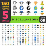 Miscellaneous sport 150 line flat isometric mobile Stock Photo