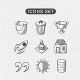 Miscellaneous symbols set. Royalty Free Stock Photos